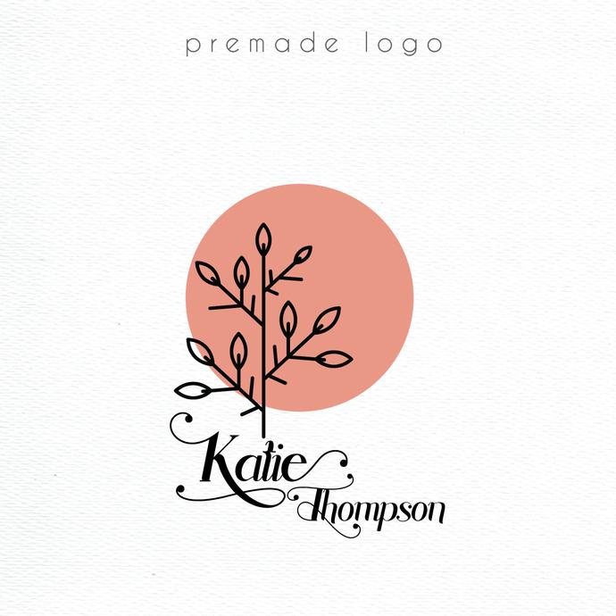 Premade logo, Personalized logo, Tree Logo Design, Tree Logo, Logo Design, Logo,