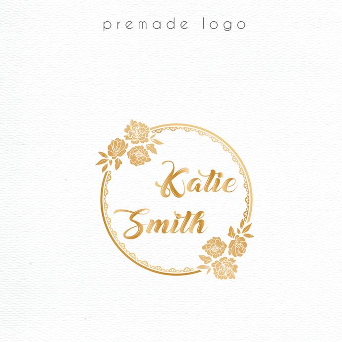 Logo Design, Premade logo, Watercolor Logo Design, Personalized logo, Watercolor