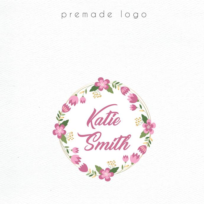 Logo Design, Premade logo, Personalized logo, Watercolor Logo, Watercolor Logo