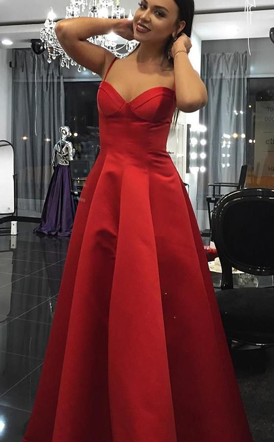 Women's Sweetheart Satin Evening Party Gown Burgundy Formal Prom Dress Long 2019
