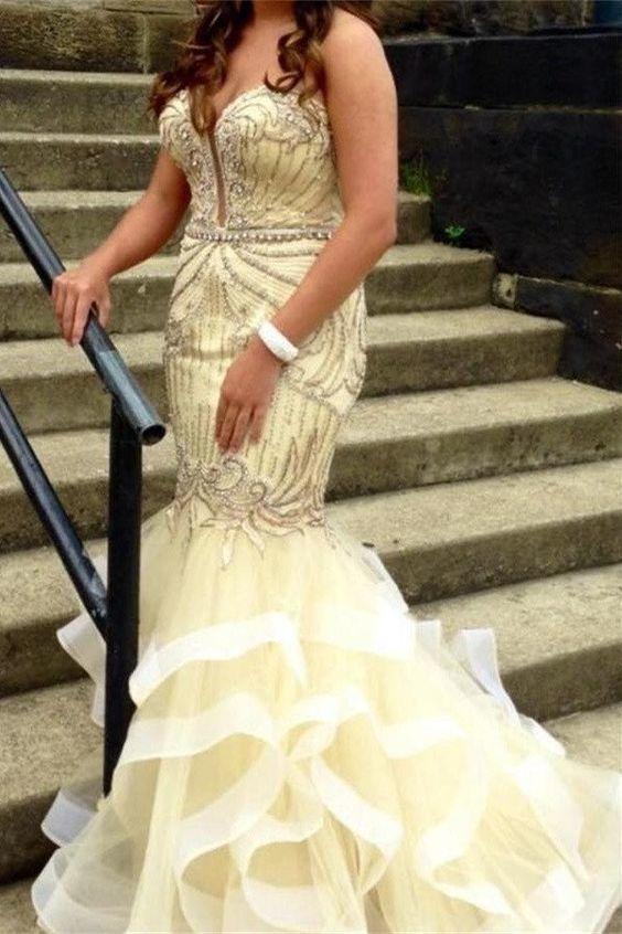 Prom Dresses,Evening Dress,Party Dresses,Gorgeous Long Mermaid Prom