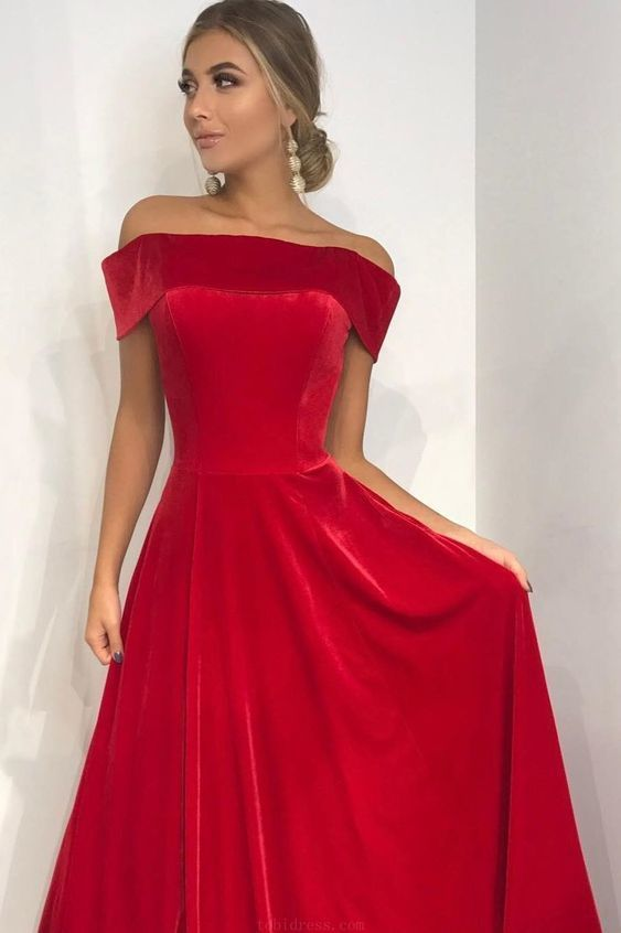 Customized Feminine 2019 Prom Dresses, Prom Dresses Red, Long Prom Dresses