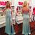 Light Blue Satin Prom Dresses Long Sheath Sleeveless V Neck Evening Dresses