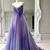 Gradient Spaghetti Strap Formal A Line Long Prom Dresses