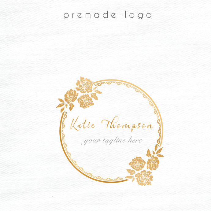 Logo Design, Premade logo, Personalized logo, Watercolor Logo Design, Watercolor