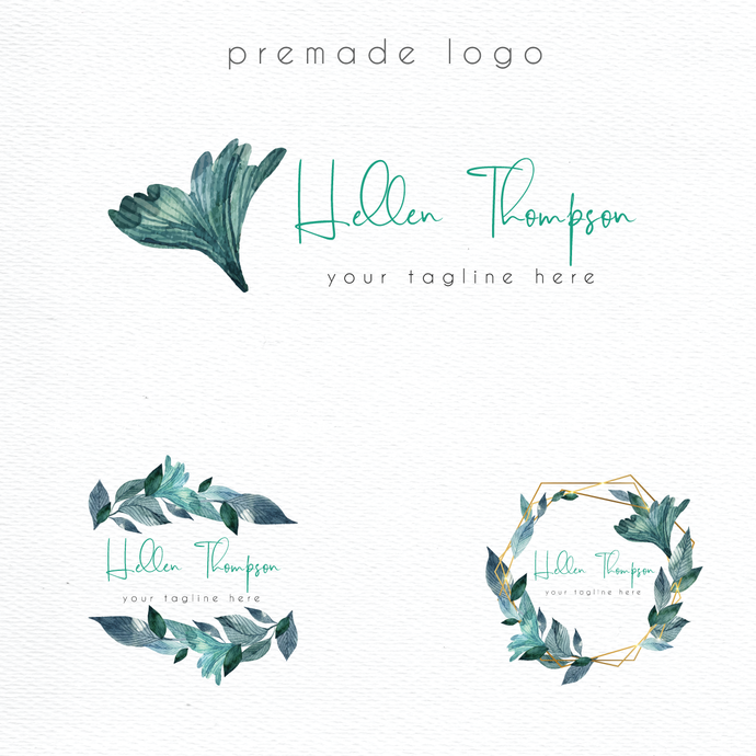 Personalized logo, Watercolor Logo Design, Logo Design, Premade logo, Watercolor