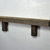"Upcycled wood wall hung shelf 24"" wide 3.25"" deep"