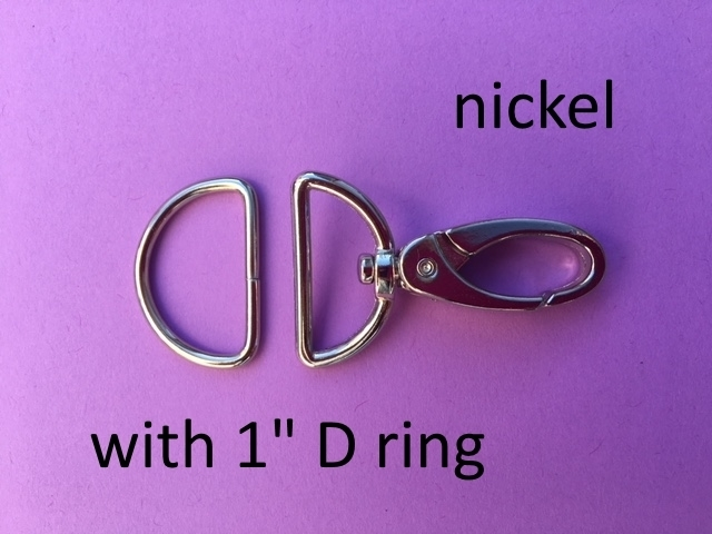 Spring Hooks 2 inch long with Matching 1 inch wide D Rings - 15 sets