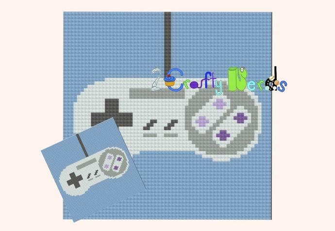 Super Nintendo Controller Pillow Pattern Graph With Single Crochet Written