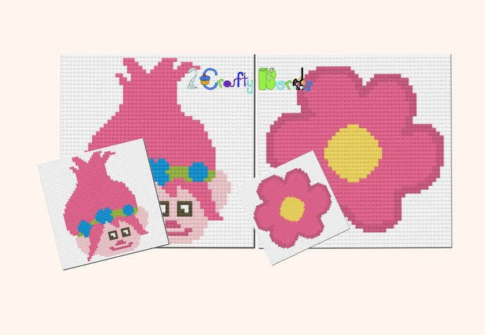 Poppy Pillow Pattern Graph With TSS Written