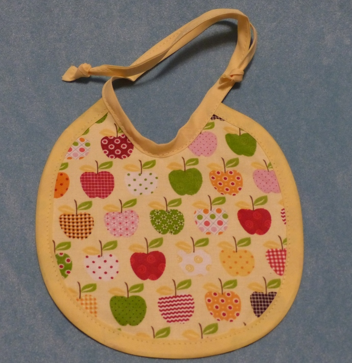 Baby Bib, Apples fabric, Cotton Baby Bib, Gift for baby, Baby accessory,