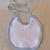 Baby Bib, white cotton knit bib, Cotton Baby Bib, Gift for baby, Baby accessory,