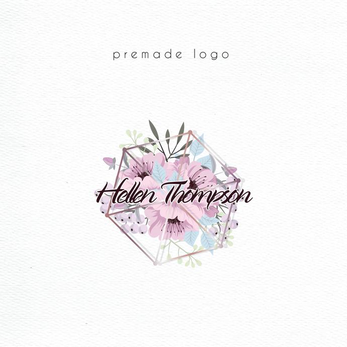 Premade logo, Logo Design, Personalized logo, Watercolor Logo, Watercolor Logo