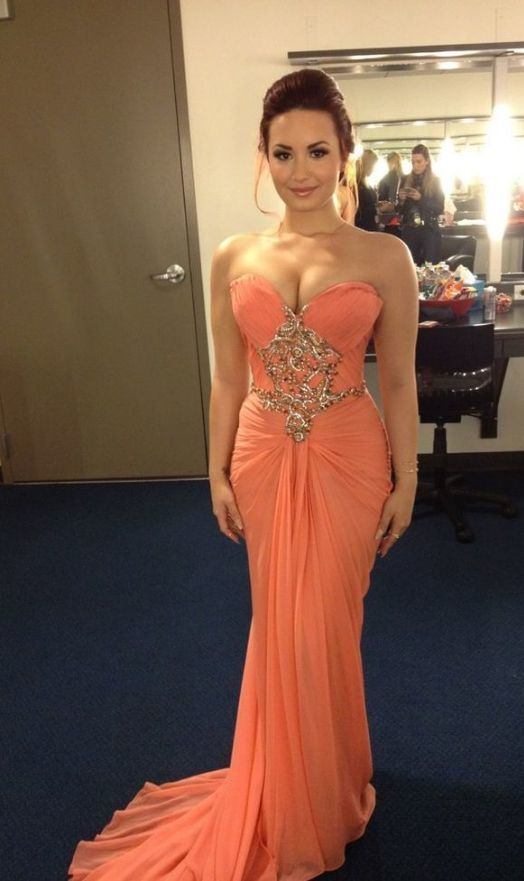 Beautiful Customized Long Prom Dresses, Sweetheart Neck Strapless Sexy Mermaid