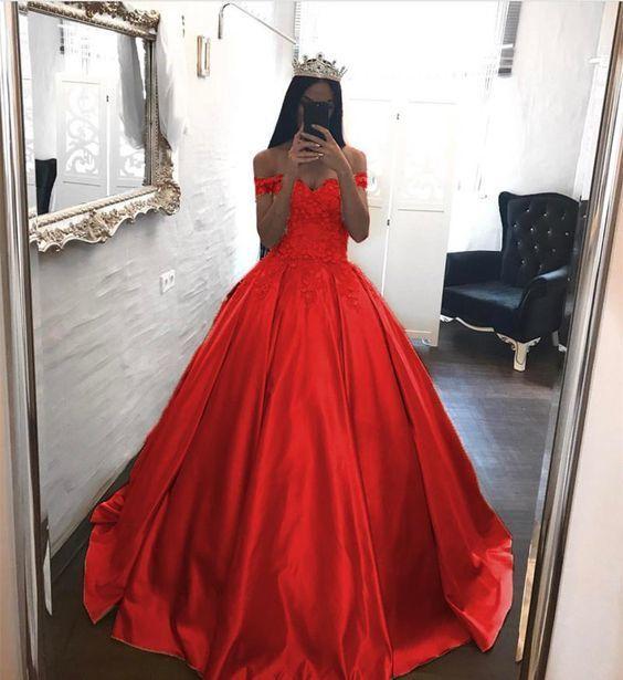 Elegant Lace Off The Shoulder Ball Gowns Satin Wedding Dresses