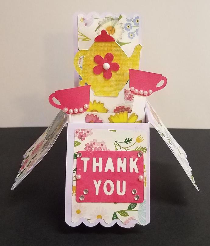 Thank You Tea Box Card