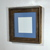 Repurposed wood picture frame with light blue 6x6 mat 10x10 without mat 20 mat