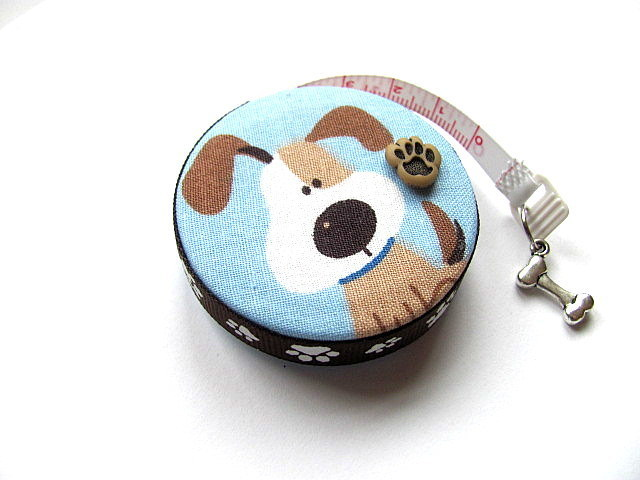 Tape Measure Cartoon Dogs on Blue Retractable Measuring Tape