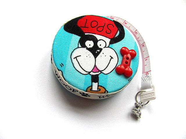 Measuring Tape Black and White Dogs Retractable Tape Measure