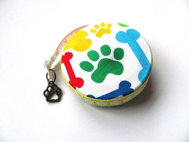 Measuring Tape Rainbow Dog Bones Paws Retractable Tape Measure