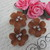 3pcs Leather Flower  - White/Mint, Victorian Rose, Tan, Brown, Terracotta, White