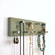 Short Green Jewelry Rack for Earrings, Necklaces and Bracelets, Wall Mount, Made