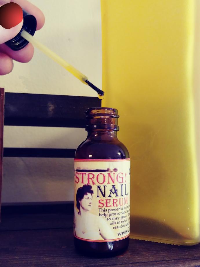 Strong Nail Serum | 1 oz | Karanja Oil | Lanolin | Silk Protein for Hard Healthy