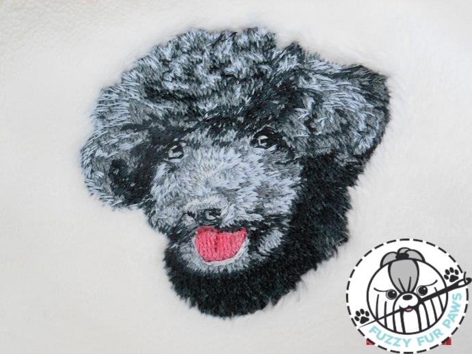 Toy Poodle-Embroidered Dog Blanket