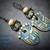 Ceramic Tribal Mask-Tiki-Polynesian Mask Earrings-Artisan Ceramics-Glass