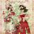 Easter Bonnet Ladies Digital Collage Greeting Card2215