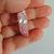 Rose Aura Crystal Quartz Point, Silver Wire Wrap. Boho Jewelry