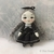 Little Goth Doll, 6 cm Tiny Girl, Handmade Cloth Doll, Cute Doll, Art Doll,