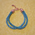 Shades-of-Teal Double Bracelet - Kumihimo