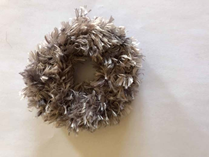 Hair Scrunchie - Gray Multi
