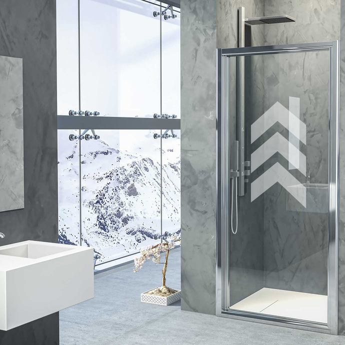 Aligned Arrows - Modern Living Series - Etched Decal - For Shower Doors, Glass