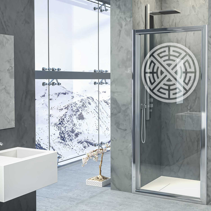 Celtic Knot II - Modern Living Series - Etched Decal - For Shower Doors, Glass
