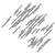 Diagonal Stripes - Modern Living Series - Etched Decal - For Shower Doors, Glass