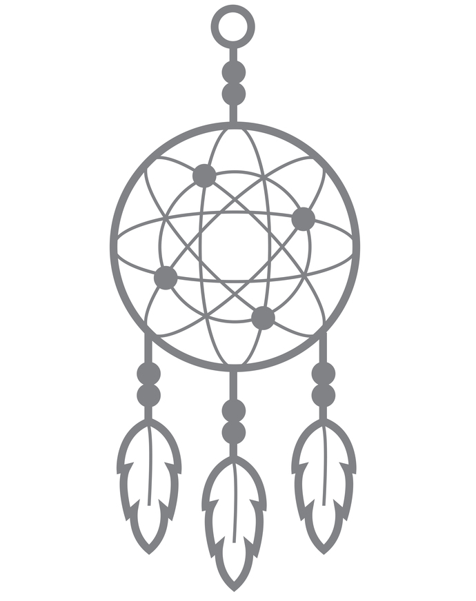 Dreamcatcher I - Modern Living Series - Etched Decal - For Shower Doors, Glass
