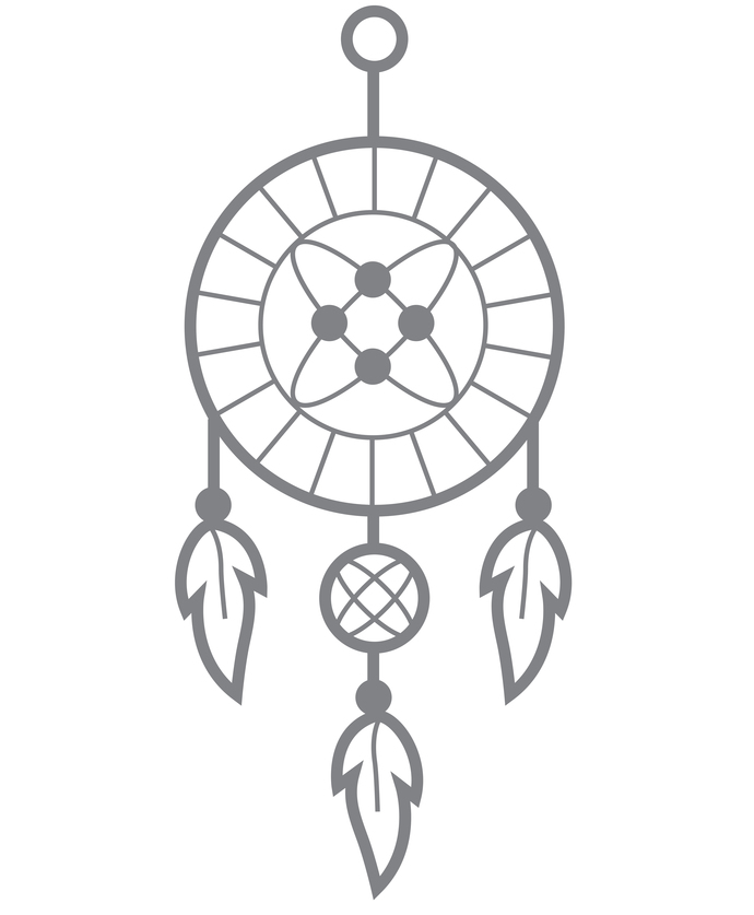 Dreamcatcher II - Modern Living Series - Etched Decal - For Shower Doors, Glass