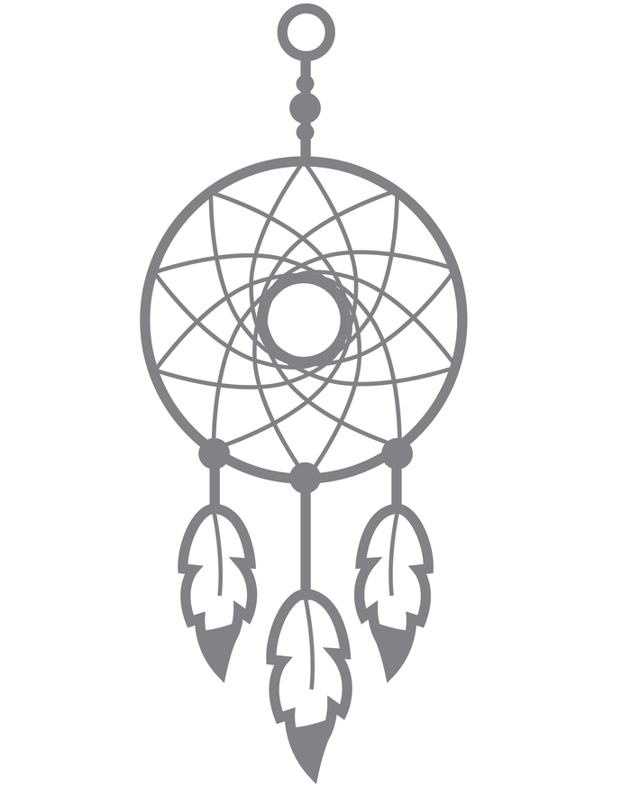 Dreamcatcher III - Modern Living Series - Etched Decal - For Shower Doors, Glass