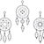 Dreamcatchers - Modern Living Series - Etched Decal - For Shower Doors, Glass