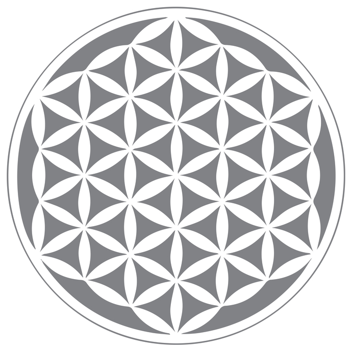 Flower of Life - Modern Living Series - Etched Decal - For Shower Doors, Glass