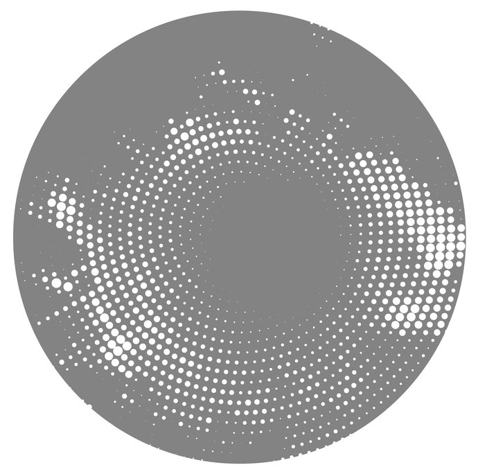 Halftone Circle - Modern Living Series - Etched Decal - For Shower Doors, Glass