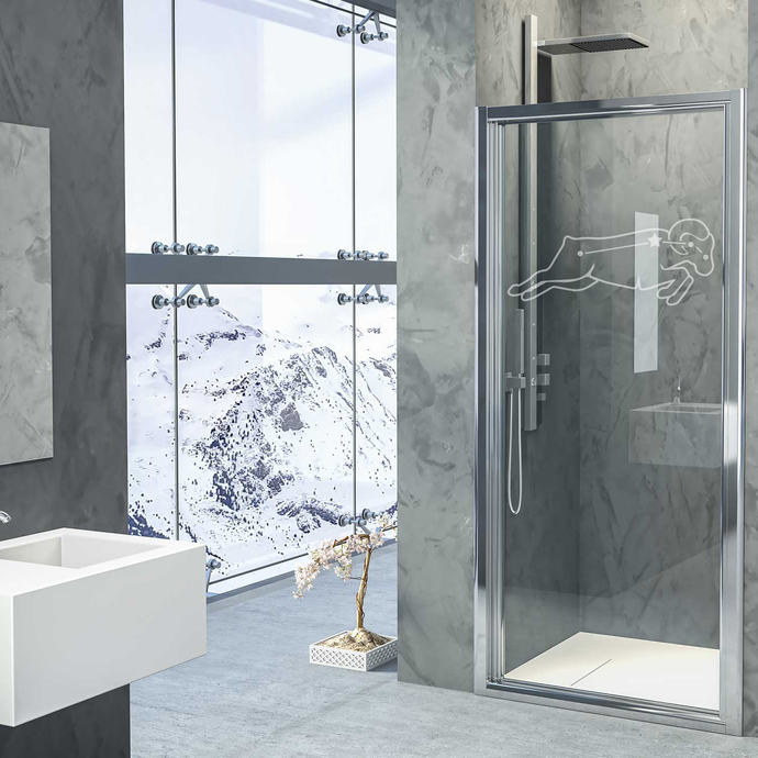 Rising Stars - Aries - Modern Living Series - Etched Decal - For Shower Doors,
