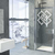 Woven Squares - Modern Living Series - Etched Decal - For Shower Doors, Glass