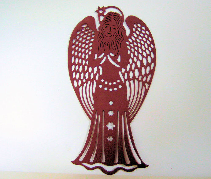 Larger Angel Metal Cutting Die, Fancy Winged