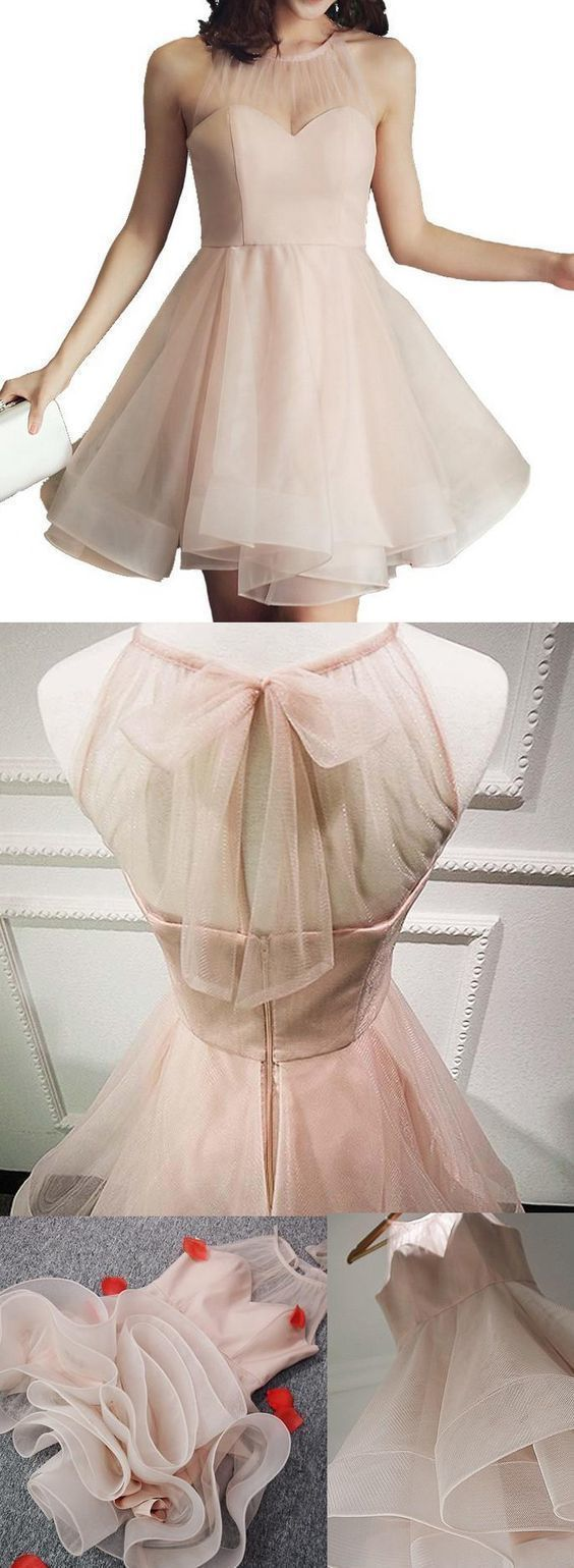 Pink Party Dresses, Short Prom Dresses, Short Pink Prom Dresses With