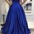 Royal Blue Evening Dresses Sweetheart Sleeveless Satin Plus Size Women Prom