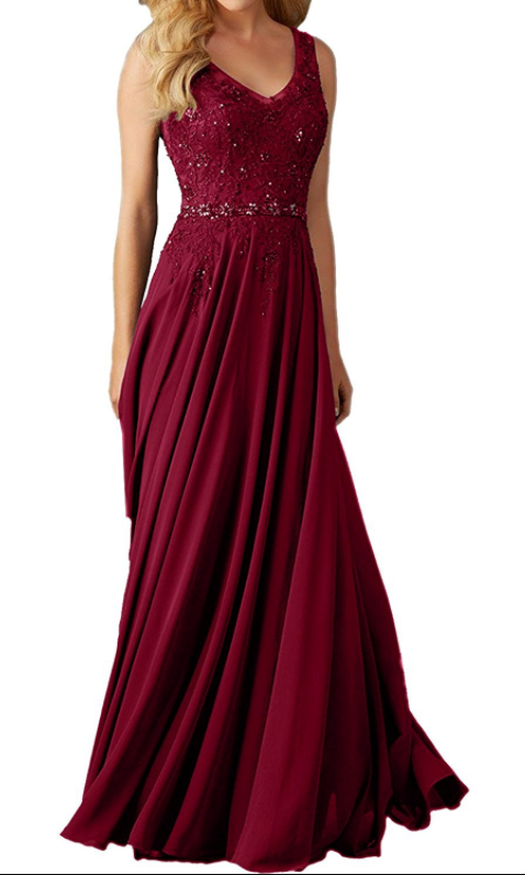 Lace Prom Dress, Long Prom Dresses, Burgundy Prom Dresses,Backless Evening