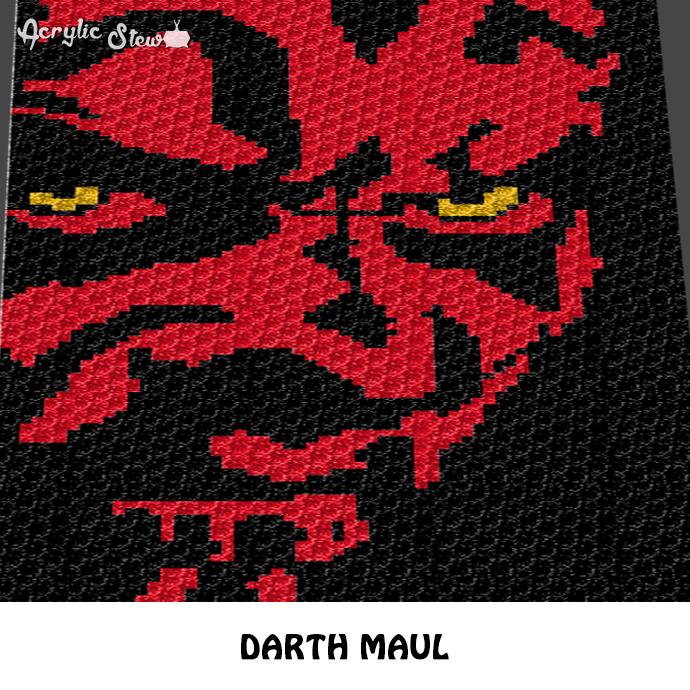 Darth Maul Star Wars Villain Movie Character By Acrylic Stew On Zibbet